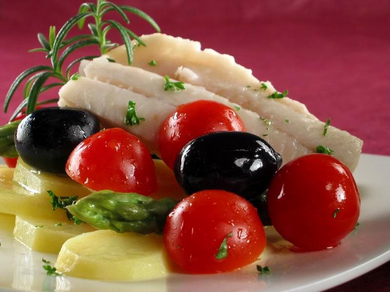 Bijela riba pečena s povrćem
